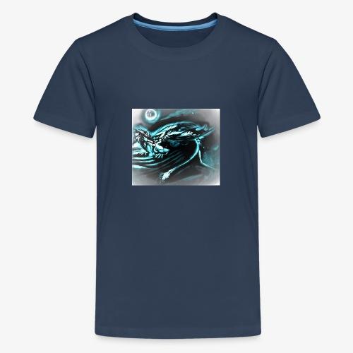 dragon- white / gray full moon - Koszulka młodzieżowa Premium