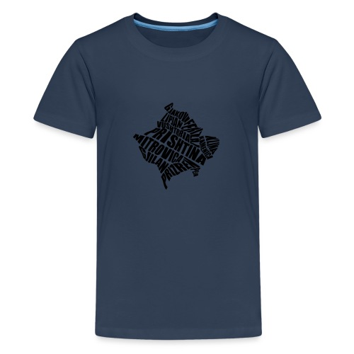 Kosovo Land mit allen Städten - Teenager Premium T-Shirt