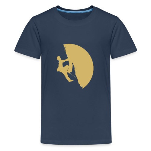Tufa Kletterer gelb - Teenager Premium T-Shirt