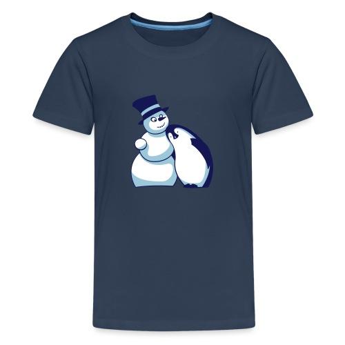 Schneemann und Pinguin - Teenager Premium T-Shirt