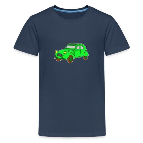 Digi - Ente Oldtimer France Frankreich Hot Rod - Teenager Premium T-Shirt