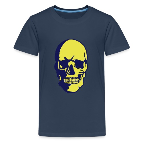 tete de mort crane halloween fantaisie 2 - T-shirt Premium Ado