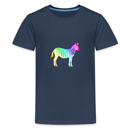 Zebra Afrika Equus Regenbogen Safari Sommer Magie - Teenage Premium T-Shirt