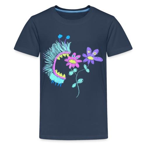 eating flowers - Teenager Premium T-shirt