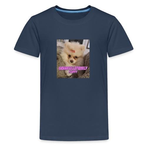 Print med den sødeste SanneVilleFamily Fluffy - Teenager premium T-shirt