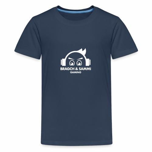 BS game white - Premium T-skjorte for tenåringer