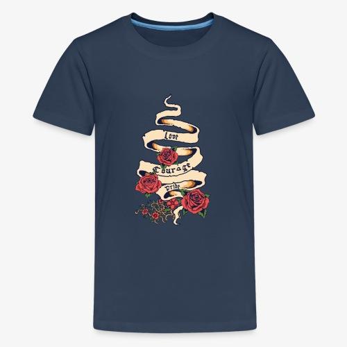 Liebe und Mut - Teenager Premium T-Shirt