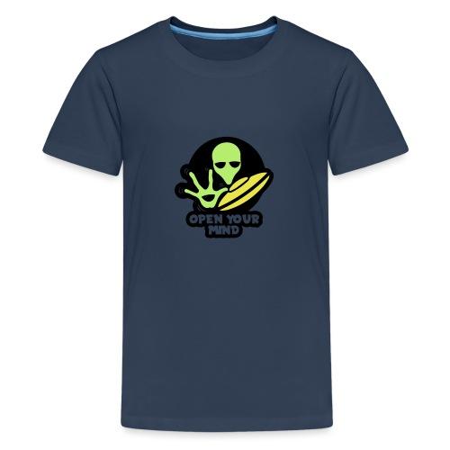 Alien Open your mind - Teenage Premium T-Shirt