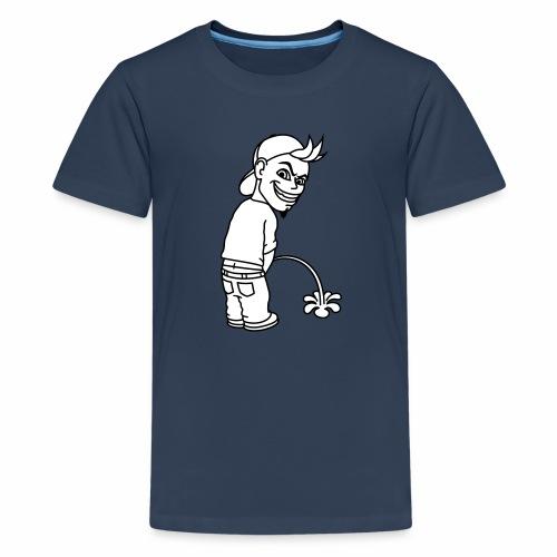 Pee Boy 2c - Teenage Premium T-Shirt