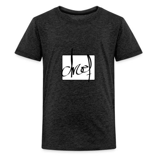 Droef.Gent logo zwart - Teenager Premium T-shirt