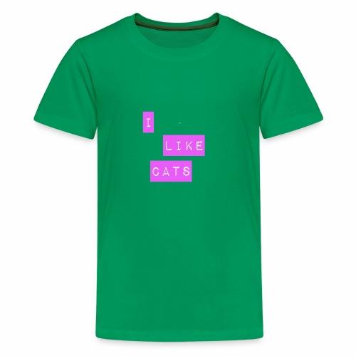 I like cats - Teenage Premium T-Shirt