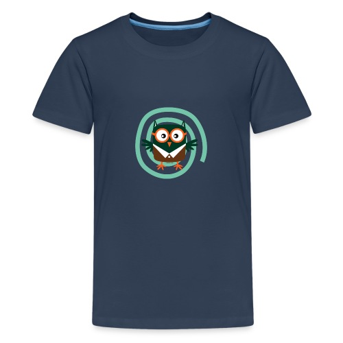 FP10-54 SCHOOL OWL - TEXTILE AND GIFT PRODUCTS - Teinien premium t-paita