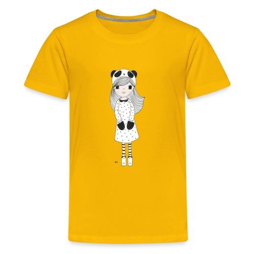 panda meisje - Teenager Premium T-shirt