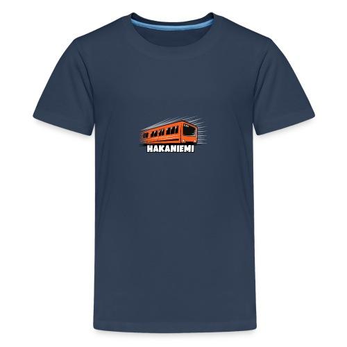 13- METRO HAKANIEMI - HELSINKI - LAHJATUOTTEET - Teinien premium t-paita