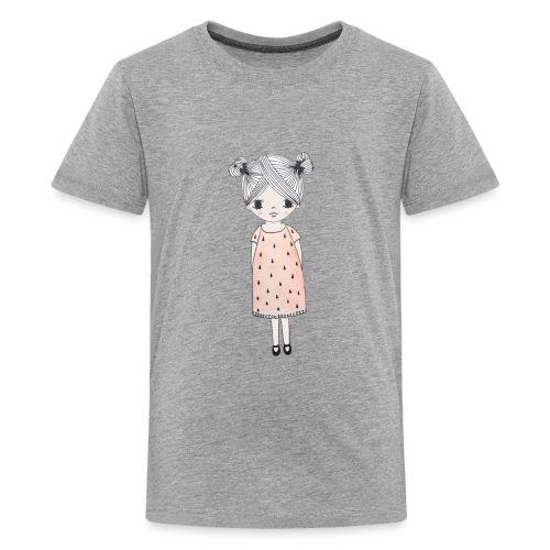lachend meisje met knotjes - Teenager Premium T-shirt