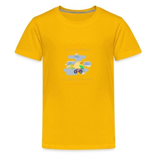 Der Fahrrad-Fisch - Teenager Premium T-Shirt