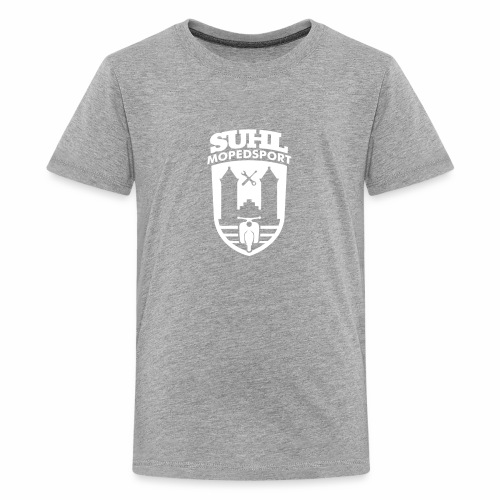 Suhl Mopedsport Schwalbe 2 Logo - Teenage Premium T-Shirt