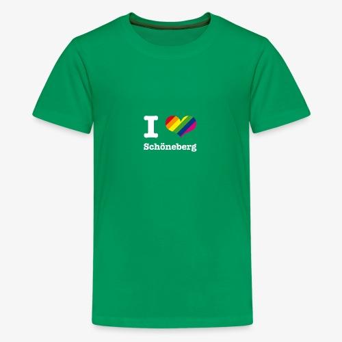 I love Schöneberg Rainbow - Teenager Premium T-Shirt