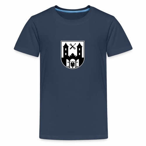 Simson Schwalbe - Suhl Coat of Arms (2c) - Teenage Premium T-Shirt