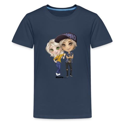 Emily & Lucas - Premium T-skjorte for tenåringer