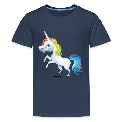 Rainbow enhjørning - Premium T-skjorte for tenåringer