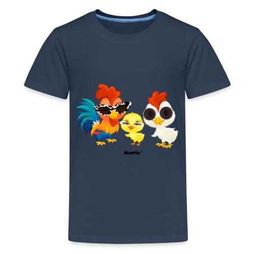 Huhn - von Momio Designer Emeraldo. - Teenager Premium T-Shirt