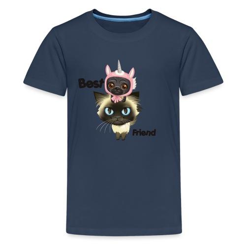 Best friend by BrightSoull. - Premium T-skjorte for tenåringer
