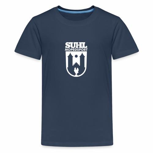 Suhl Mopedsport Hahn Logo - Teenage Premium T-Shirt