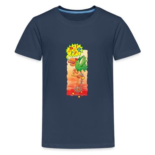 Furious parrot saying bad words - Teenage Premium T-Shirt