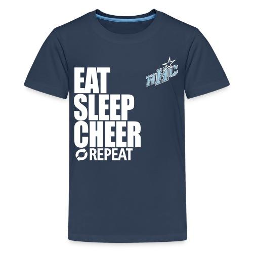 eat sleep cheer - Teenager Premium T-Shirt