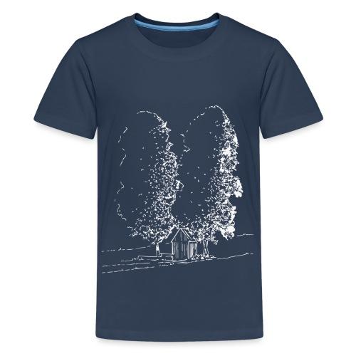 Pumhaus_shirt_weiss - Teenager Premium T-Shirt