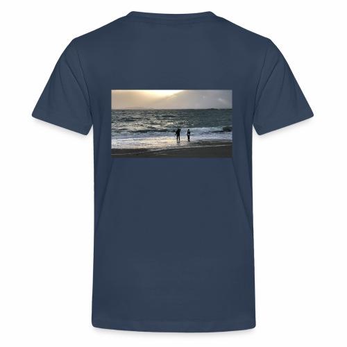 Silsanden i uvær - Premium T-skjorte for tenåringer