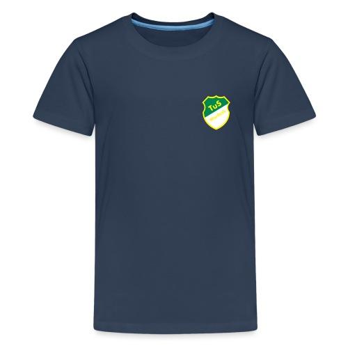 Schriftzug Rücken - Teenager Premium T-Shirt