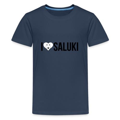 I Love Saluki - Maglietta Premium per ragazzi