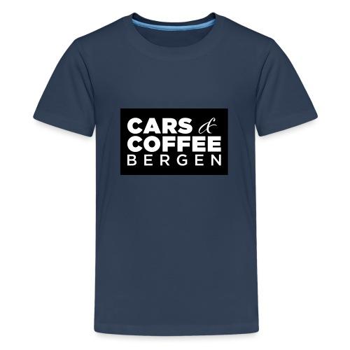 Cars & Coffee Bergen Logo_Boks - Premium T-skjorte for tenåringer