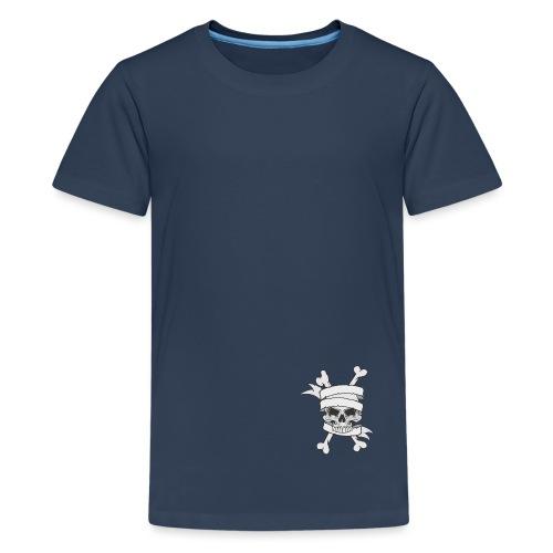 calavera - Camiseta premium adolescente