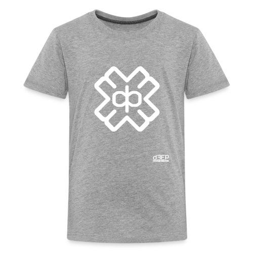 d3eplogowhite - Teenage Premium T-Shirt