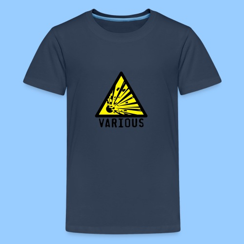 VariousExplosions Triangle (2 colour) - Teenage Premium T-Shirt
