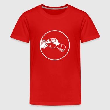 Gasmaske / gas mask (1c) - Teenager Premium T-Shirt