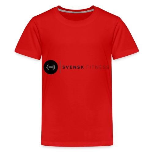 Svart logo - Premium-T-shirt tonåring