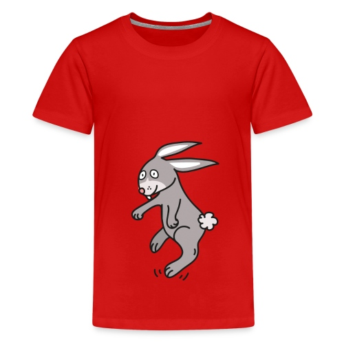 Funny Bunny Lustiges Häschen Comic Style - Teenager Premium T-Shirt