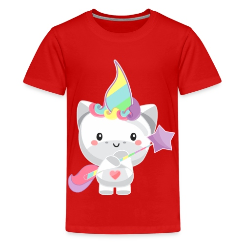 EINHORN UNICORN /Grafik Druck/Print - Teenager Premium T-Shirt