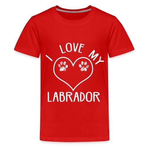 I love my labrador01 - Teenager Premium T-Shirt