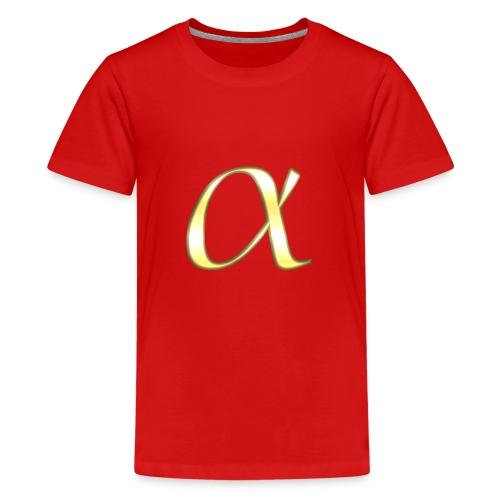 Alpha in Gold - Teenager Premium T-Shirt