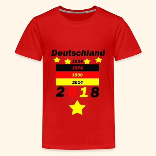 Deutschland 5 Sterne - Teenager Premium T-Shirt