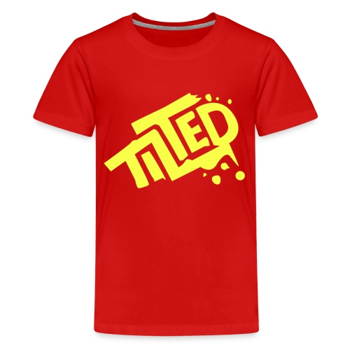 Fortnite Tilted (Yellow Logo) - Teenage Premium T-Shirt