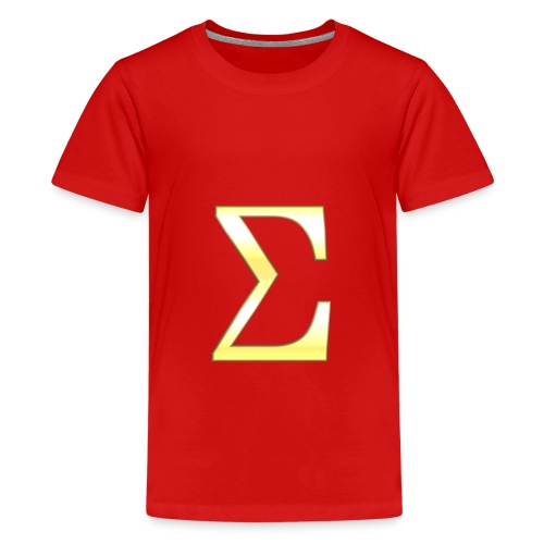 Sigma in Gold - Teenager Premium T-Shirt