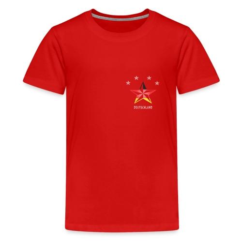 Deutschland Fahne Sterne Sport Fußball Fanshirt - Teenager Premium T-Shirt