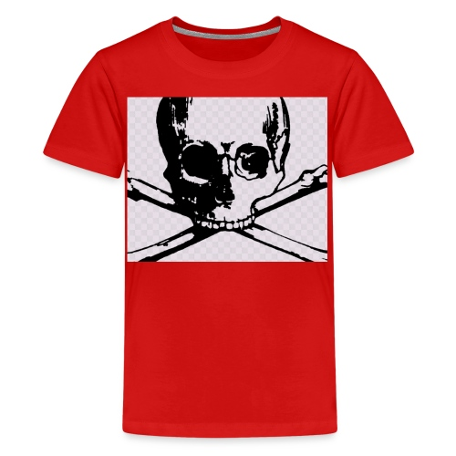 skull and crossbones - Teenage Premium T-Shirt