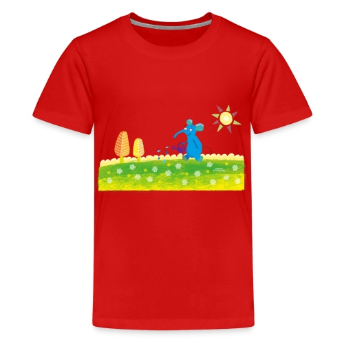 blauer Elefant - Teenager Premium T-Shirt